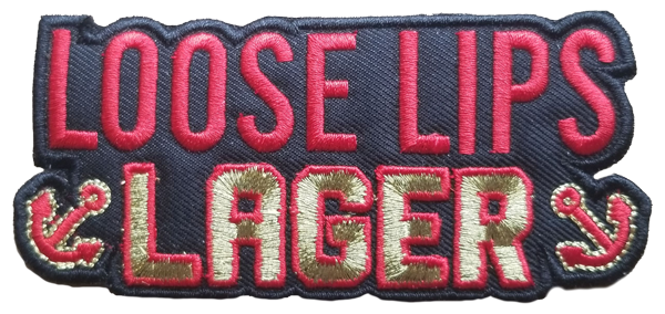 Loose Lips Lager Patch Black
